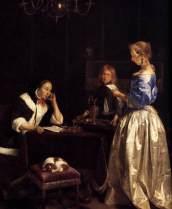 Sitio Oficial La Courona Mexicana Arte - Oleo Sobre Lienzo -Auguste Toulmouche - Las Mujeres de la lectura ll 1865