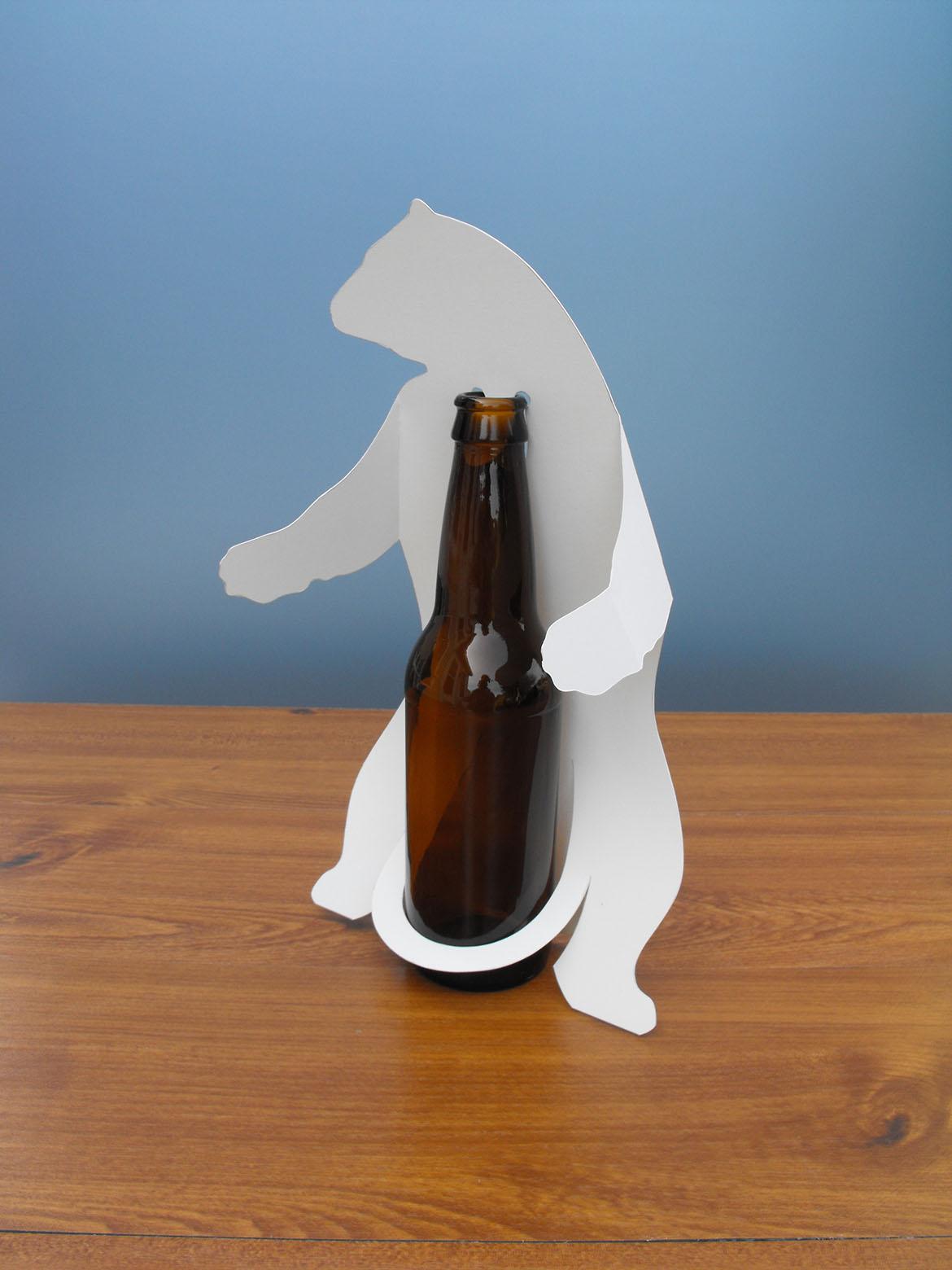 alaskan brewing company polar bear bottle wrap