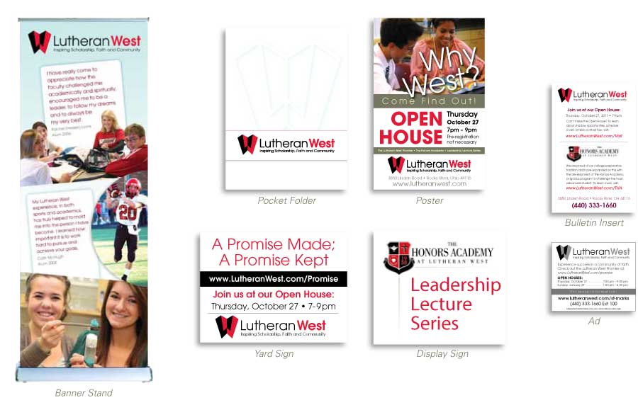 education branding - marketing collateral
