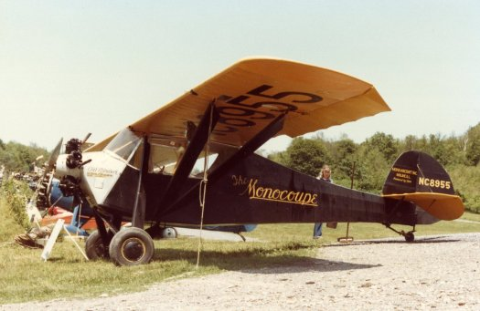 Old Rhinebeck Aerodrome's Monocoupe 113 currently being restored by Bob Coolbaugh