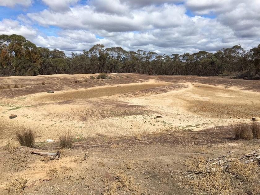 Distillery Dam - dry as a dead dingo's donger!