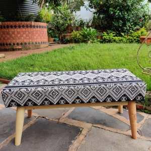 black boho bench