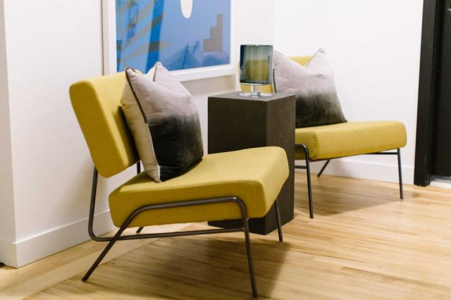 Corner seating area for 2