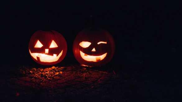 Lanterns during Halloween.