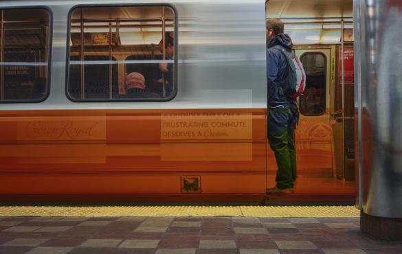 Public transit in Boston.