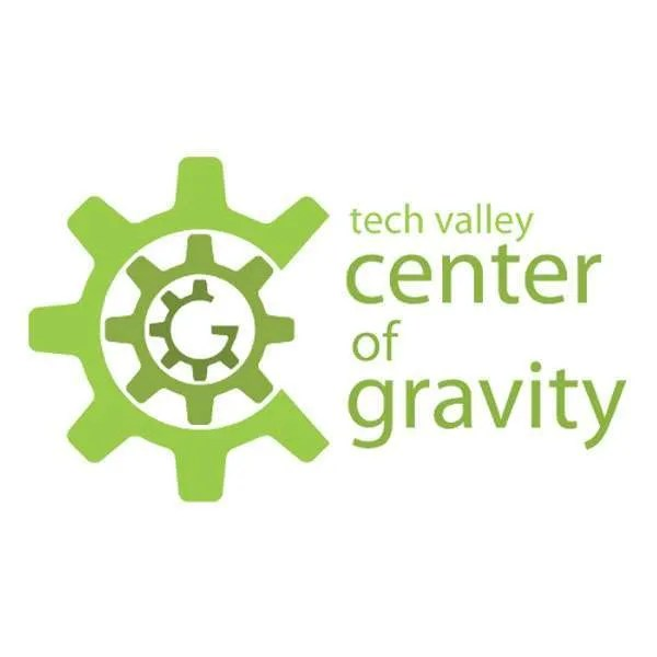 Logo & link to coworking spot Tech Valley Center of Gravity