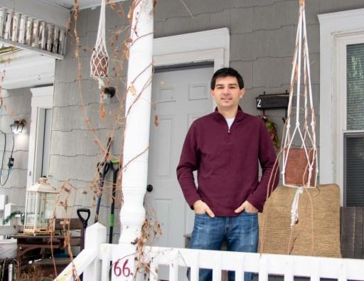 Alexander Bodensieck at his rental property in Ballston Spa