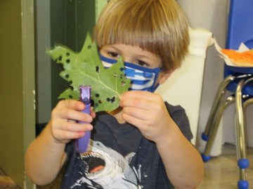 Child with leaf, Susan O'Dell Taylor School