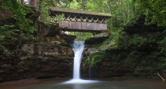 Waterfall at  Winter Clove Inn