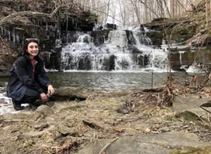 maria and waterfall
