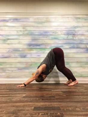 Karina doing yoga