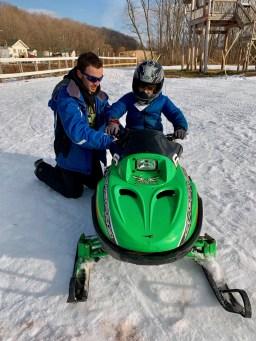 Kid-sized snowmobile