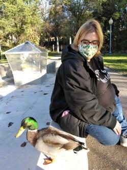 Amanda Blodgett and Duck