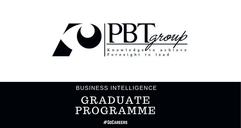 PBT Business Intelligence Graduate Programme 2020 – GoCareers