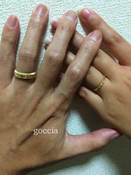 オーダーメイド・結婚指輪・着用画像