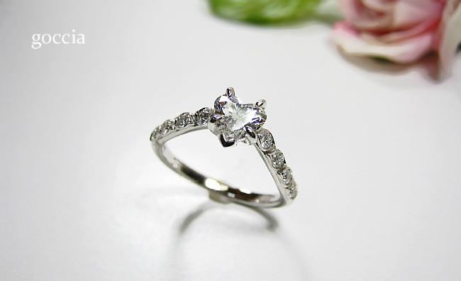 ハートシェイプダイヤモンド・リング