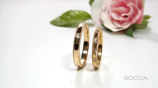 ローズカットダイヤ・結婚指輪