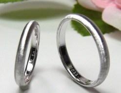 甲丸の結婚指輪・マリッジリング