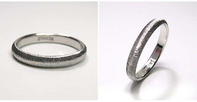 結婚指輪・甲丸