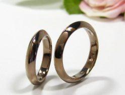 ブラウンゴールドの結婚指輪