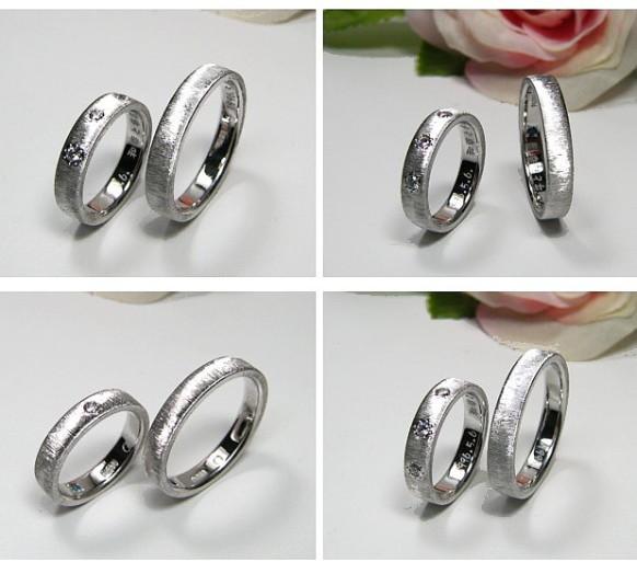 ダイヤ・プラチナの結婚指輪