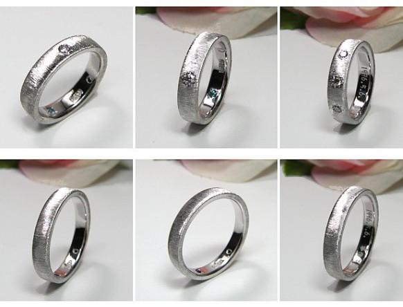 女性側ダイヤ・結婚指輪