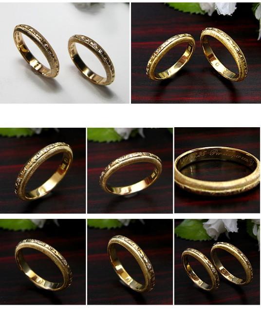 アンティーク調の結婚指輪・マリッジリング