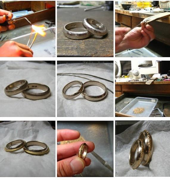 結婚指輪・鍛造で加工