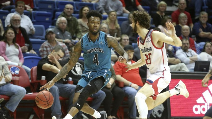 Image result for South Alabama Jaguars vs. Coastal Carolina Chanticleers College Basketball 2019