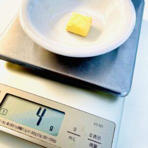 1個当たりの重さを測定