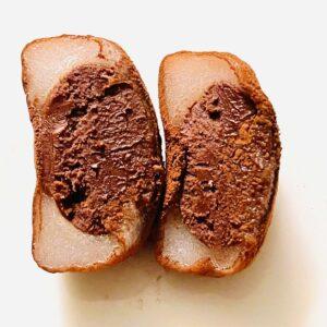 生チョコ餅の断面画像
