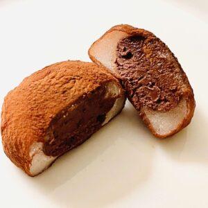 生チョコ餅をカットしてみた画像