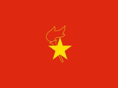 Cờ của Đội Thiếu niên Tiền Phong Trung Quốc. (Nguồn: http://www.flagcollection.com/itemdetails-print.php?CollectionItem_ID=951)
