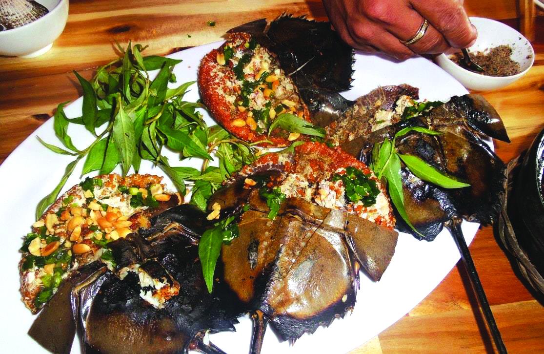 món ăn Sam biển copy Sam biển Gò Công
