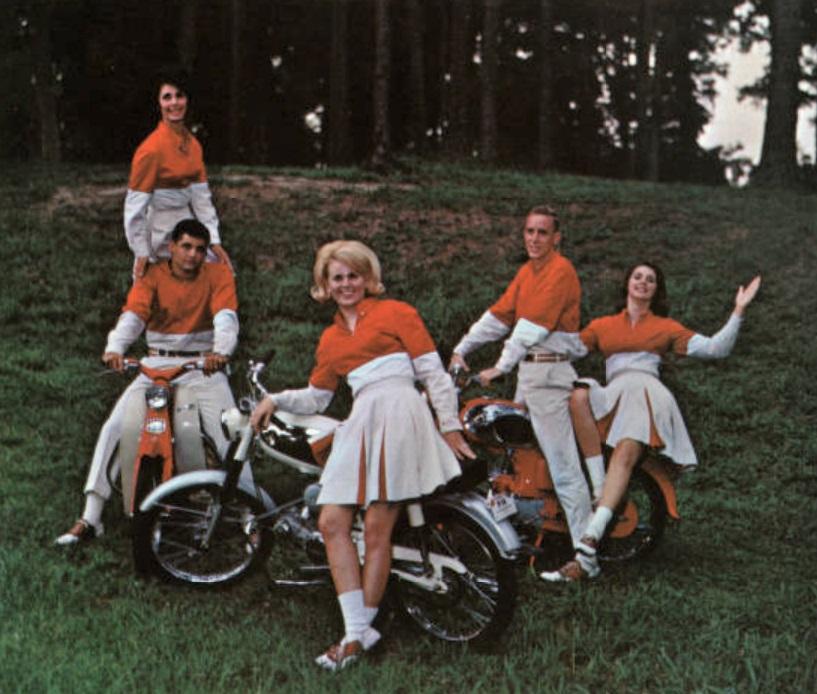 1965 cheerleaders - Bill Worrell at bottom left