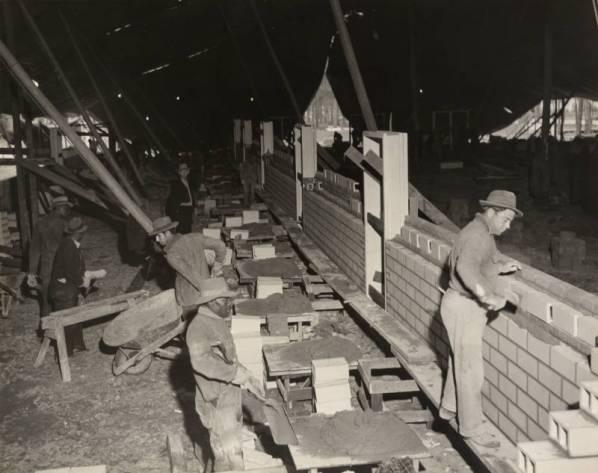 Construction of Cougar Den - Spring 1942