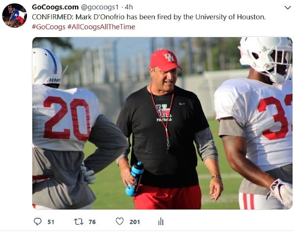 D'Onofrio Fired Twitter Reaction