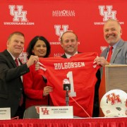Dana Holgorsen introduced at Houston