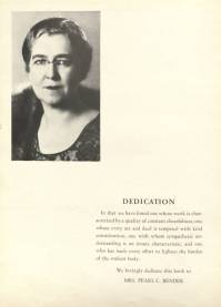 The 1941 Houstonian Yearbook was dedicated to Pearl Bender