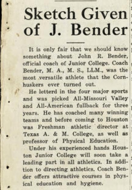 John R Bender