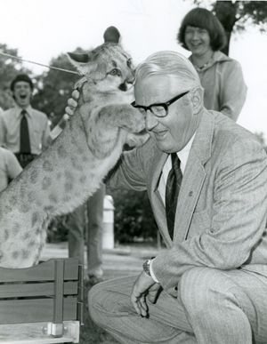 Shasta and UH President Dr. Phillip G Hoffman