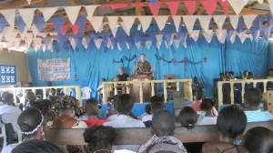 Bruce teaching at the local church in Liberia.