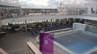 View to the Pool from Navigator Deck 11