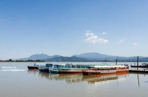 Boats on Lake Patzcuaro