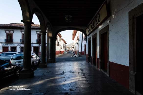 The archways around Plaza Grande