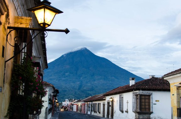 Volcan de Agua and Morning Lights
