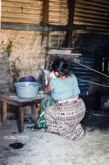 Grinding Corn for Tortillas at the Local Mill