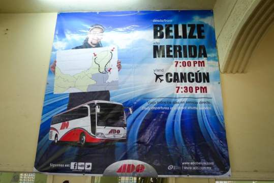 Night Bus from Belize City to Cancun Mexico