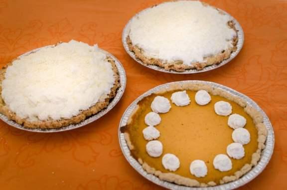 Pumpking & Coconut Creme Pies