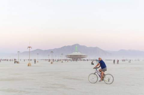 Biking at Burning Man
